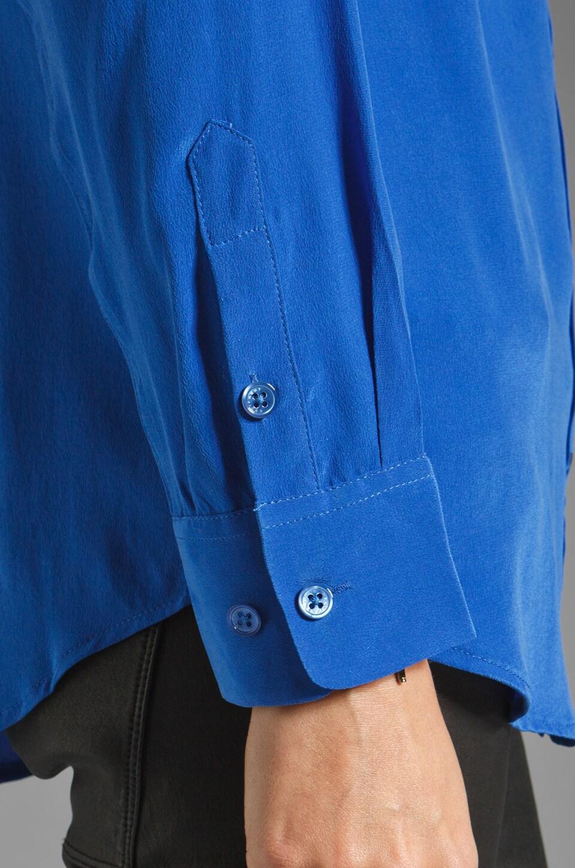 Equipment Signature Blouse in Regal Blue