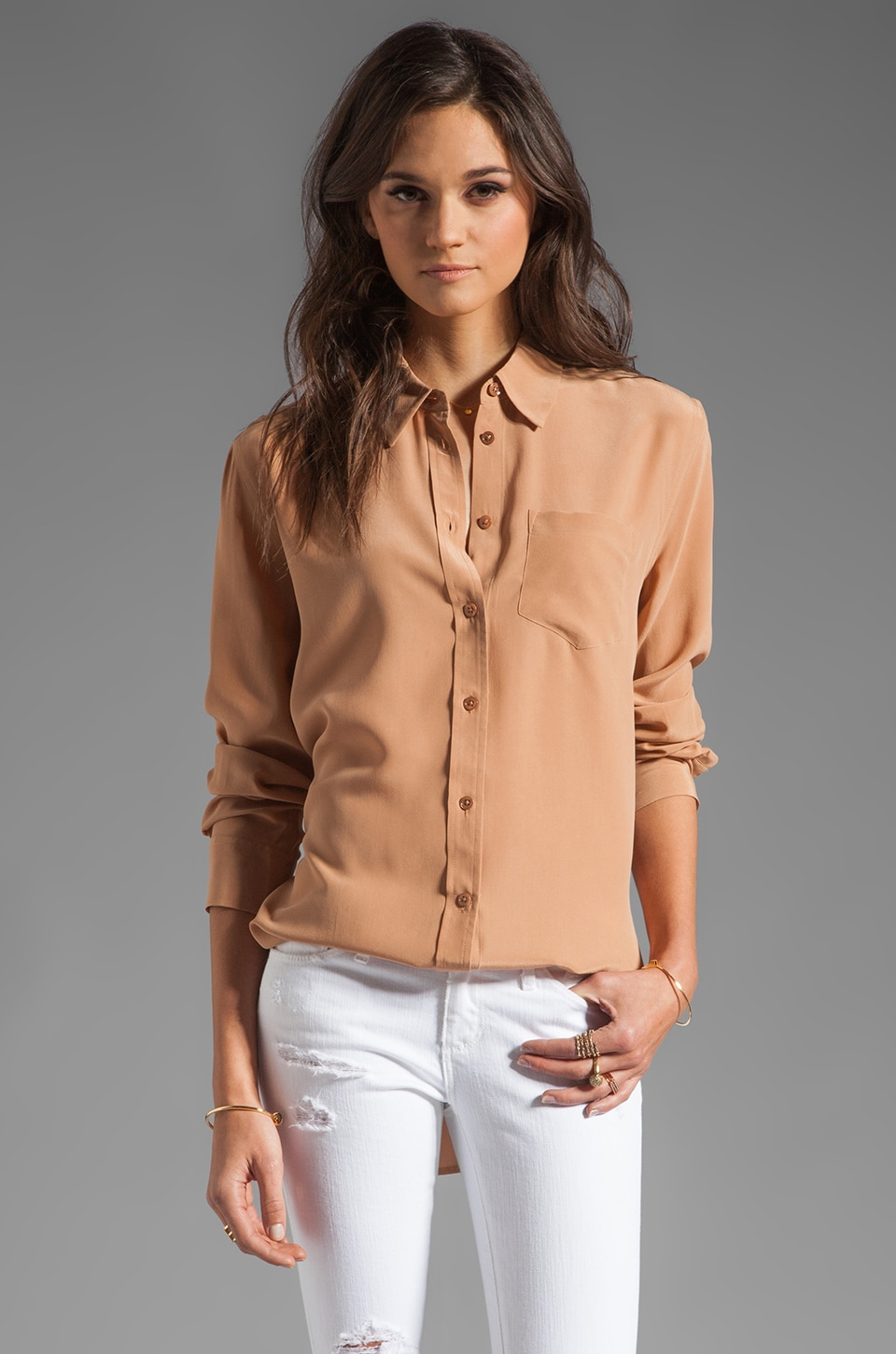 Equipment Reese Blouse in Caramel