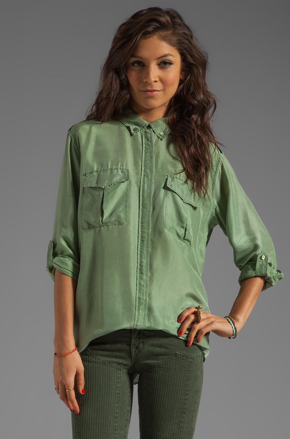 Equipment Major Blouse in Safari Green