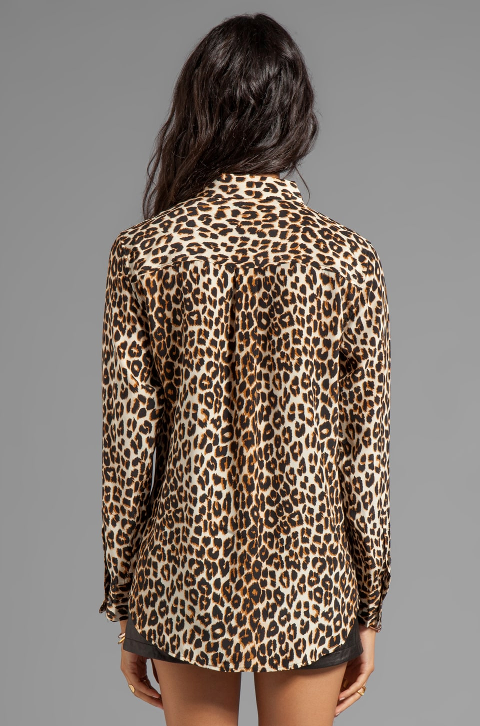 Equipment Chemisier Slim Signature imprimé Underground Leopard en Naturel