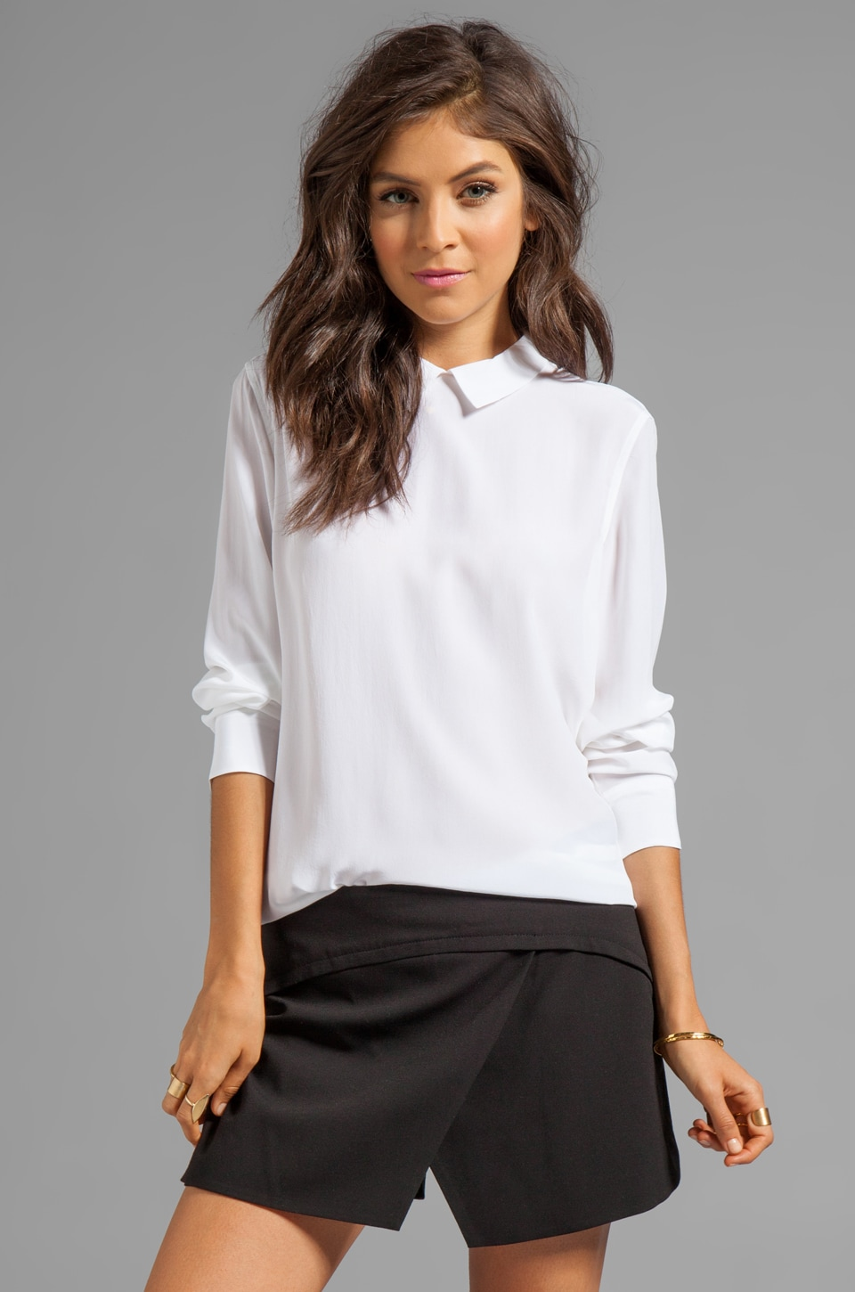 Equipment Grace Long Sleeve Top in Bright White