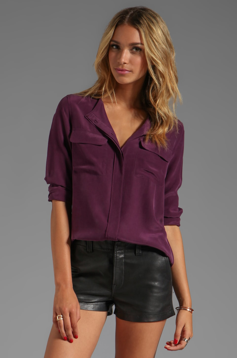 Equipment Lynn Blouse in Cabernet