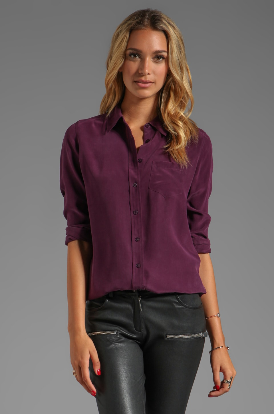 Equipment Brett Blouse in Cabernet