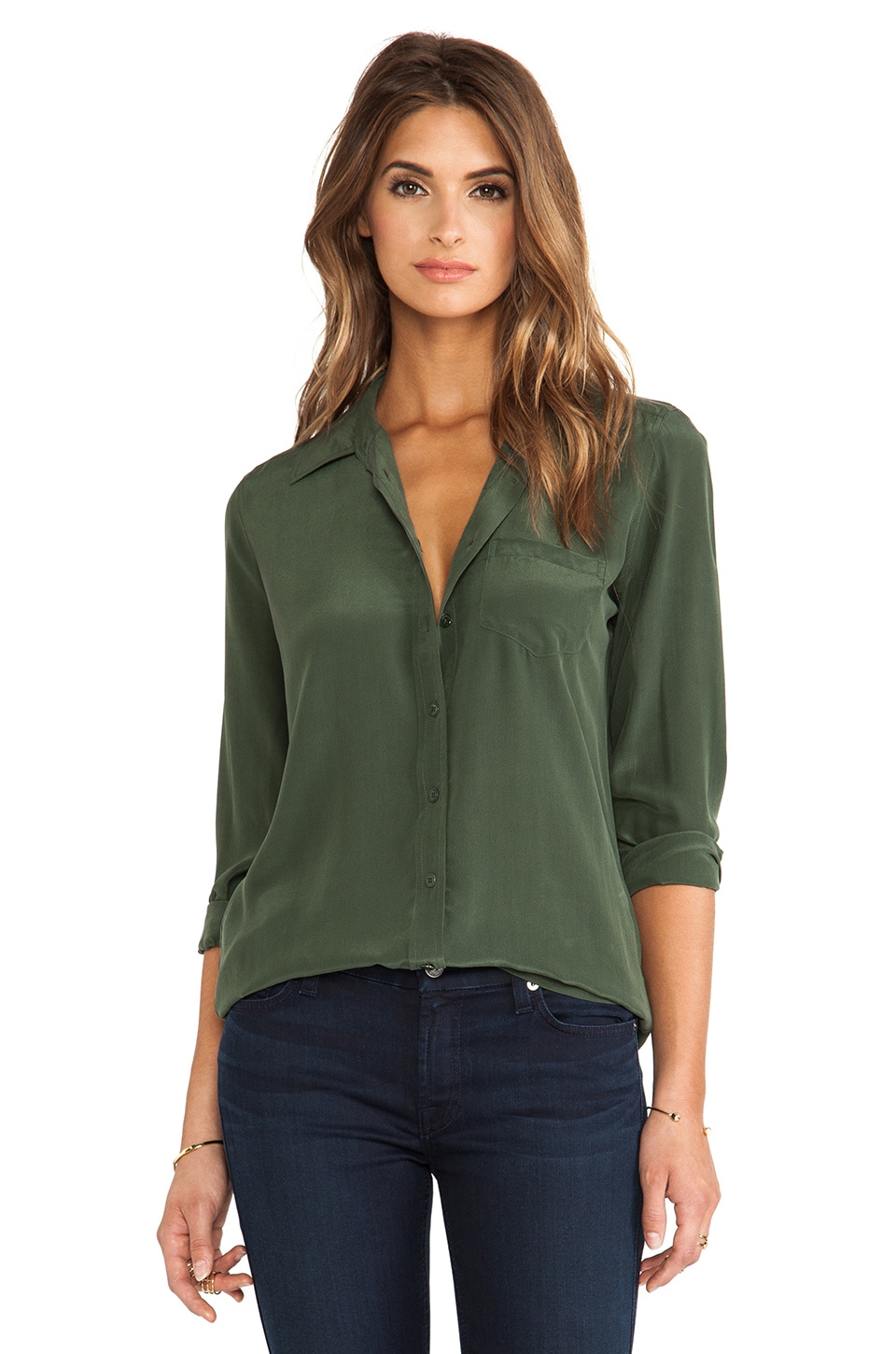 Equipment Brett Blouse in Dark Army