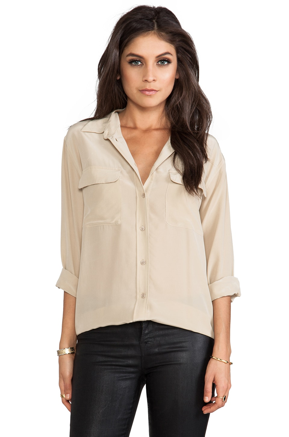 Equipment Signature Blouse in Dune