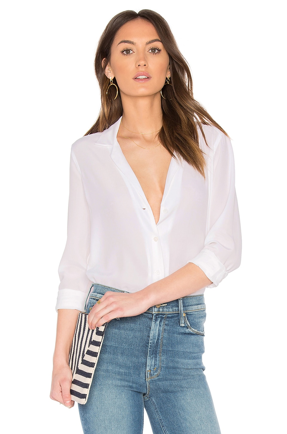 Equipment Adalyn Blouse in Bright White