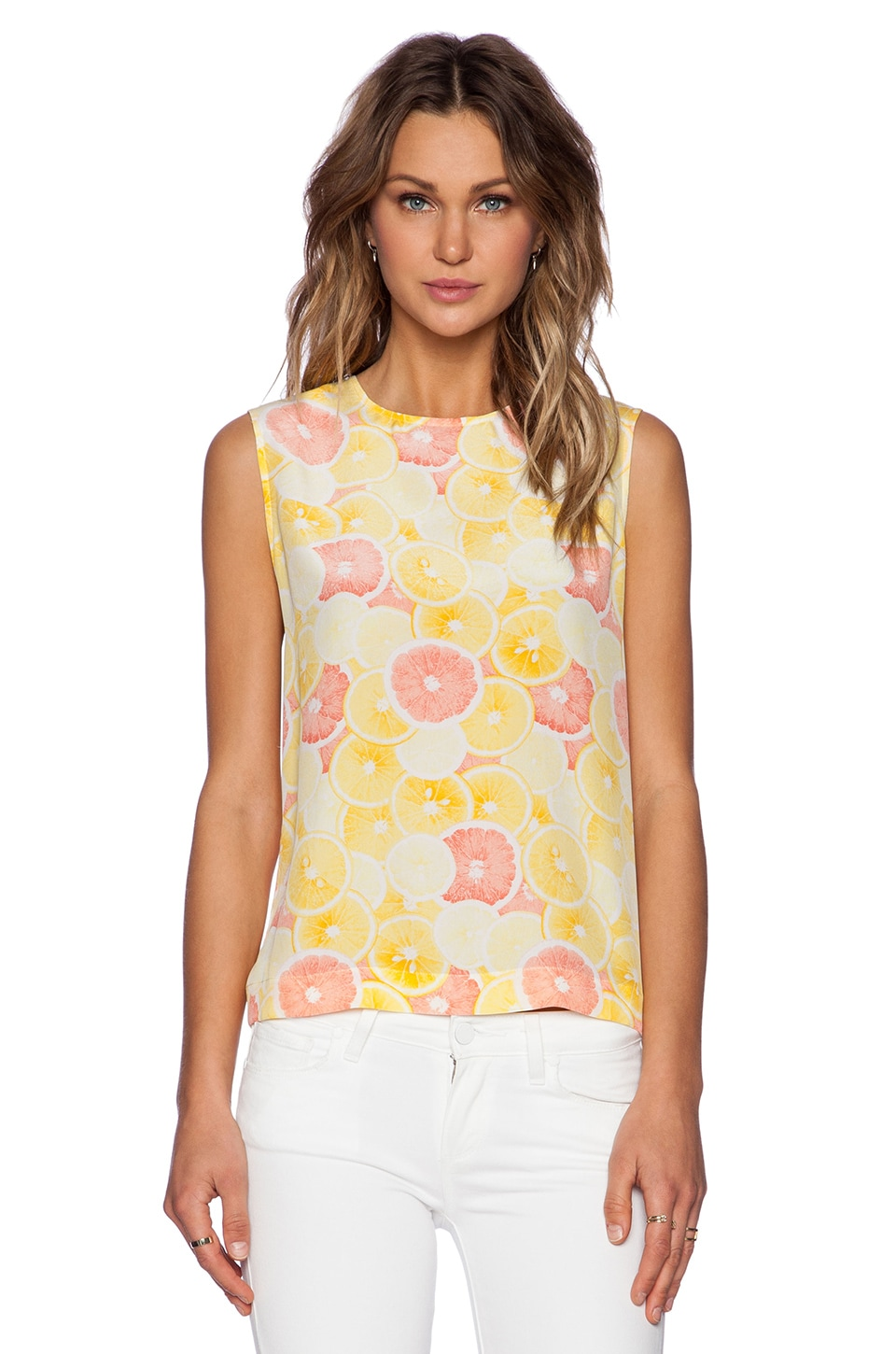Equipment Reagan Printed Tank in Citrus Multi