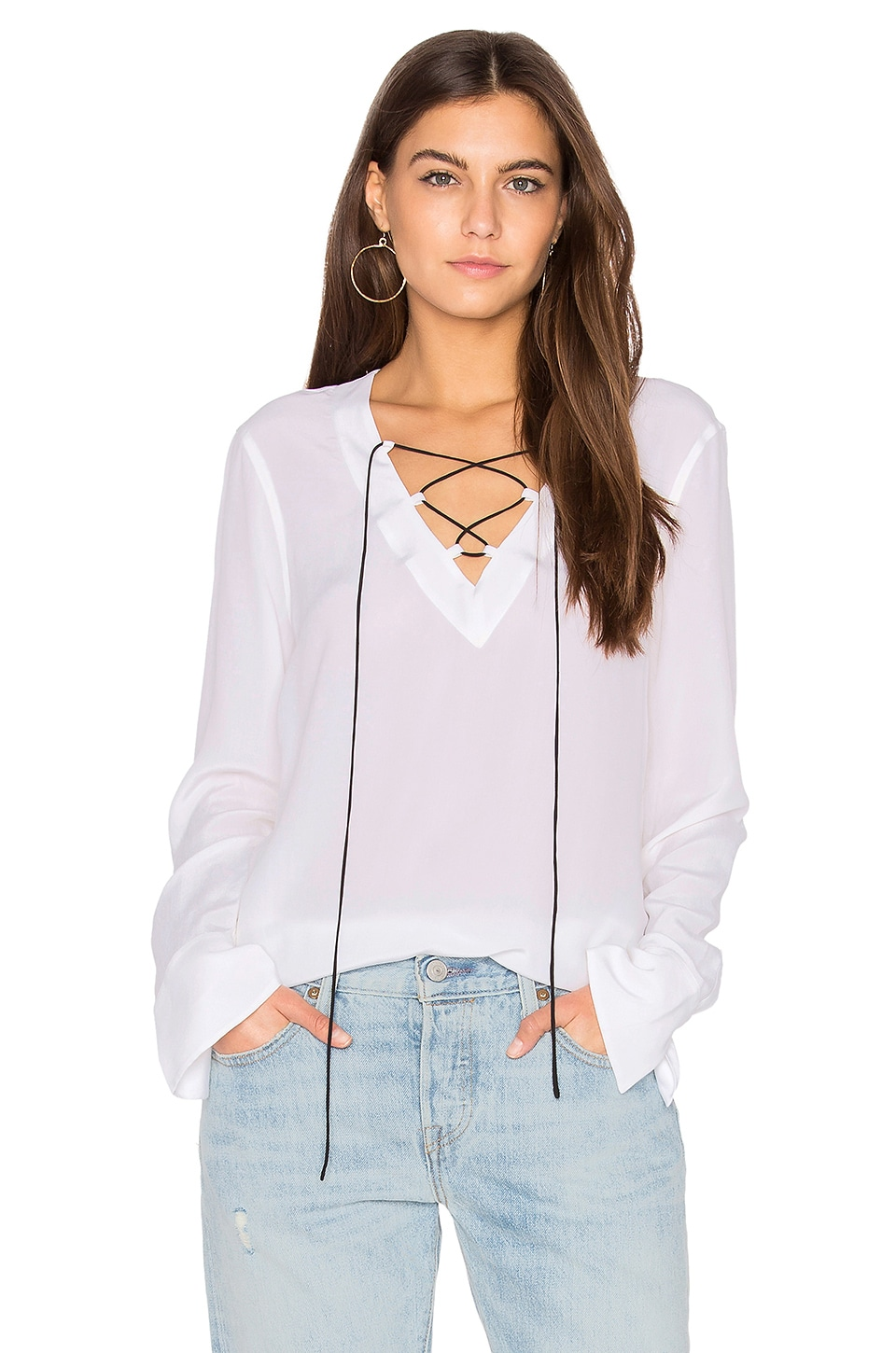 Equipment Avianna Top in Bright White