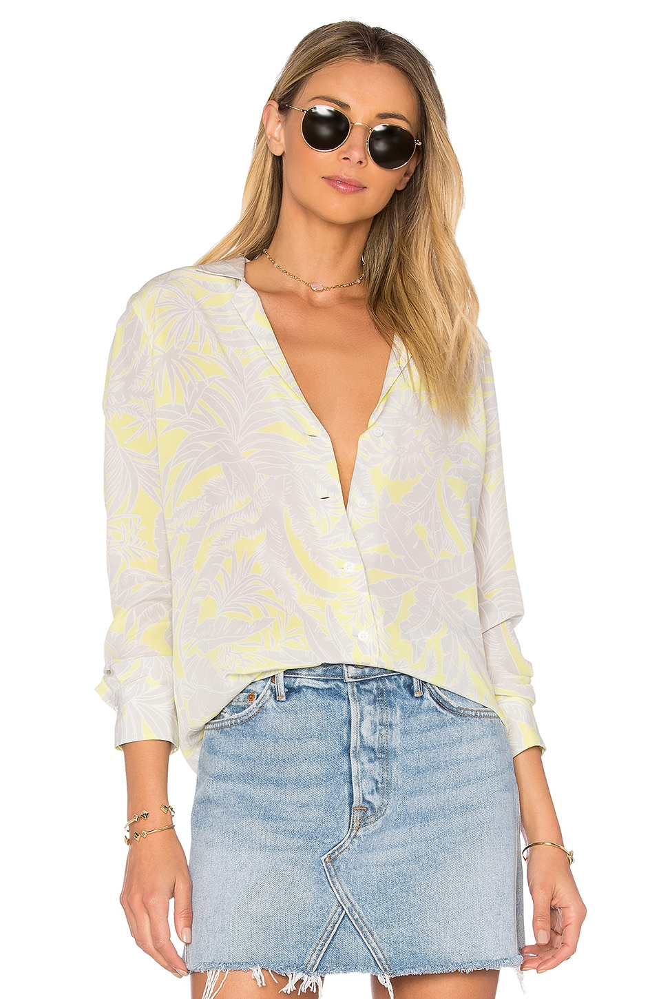 Adalyn Tropic Button Up