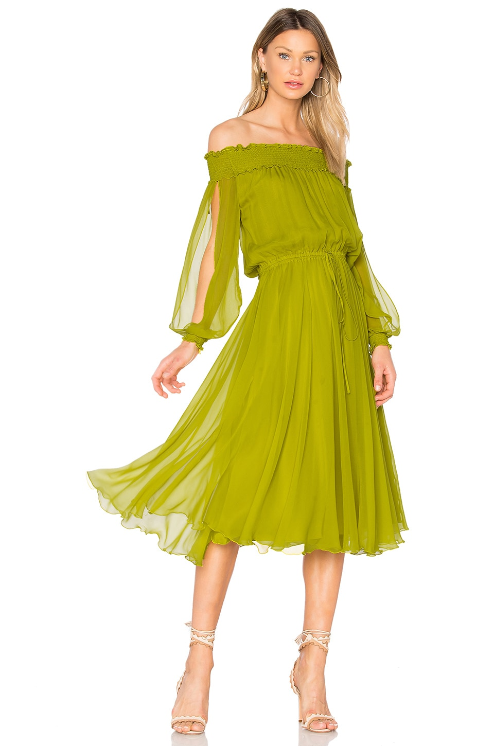 Erin Fetherston La Boheme Dress in Peridot