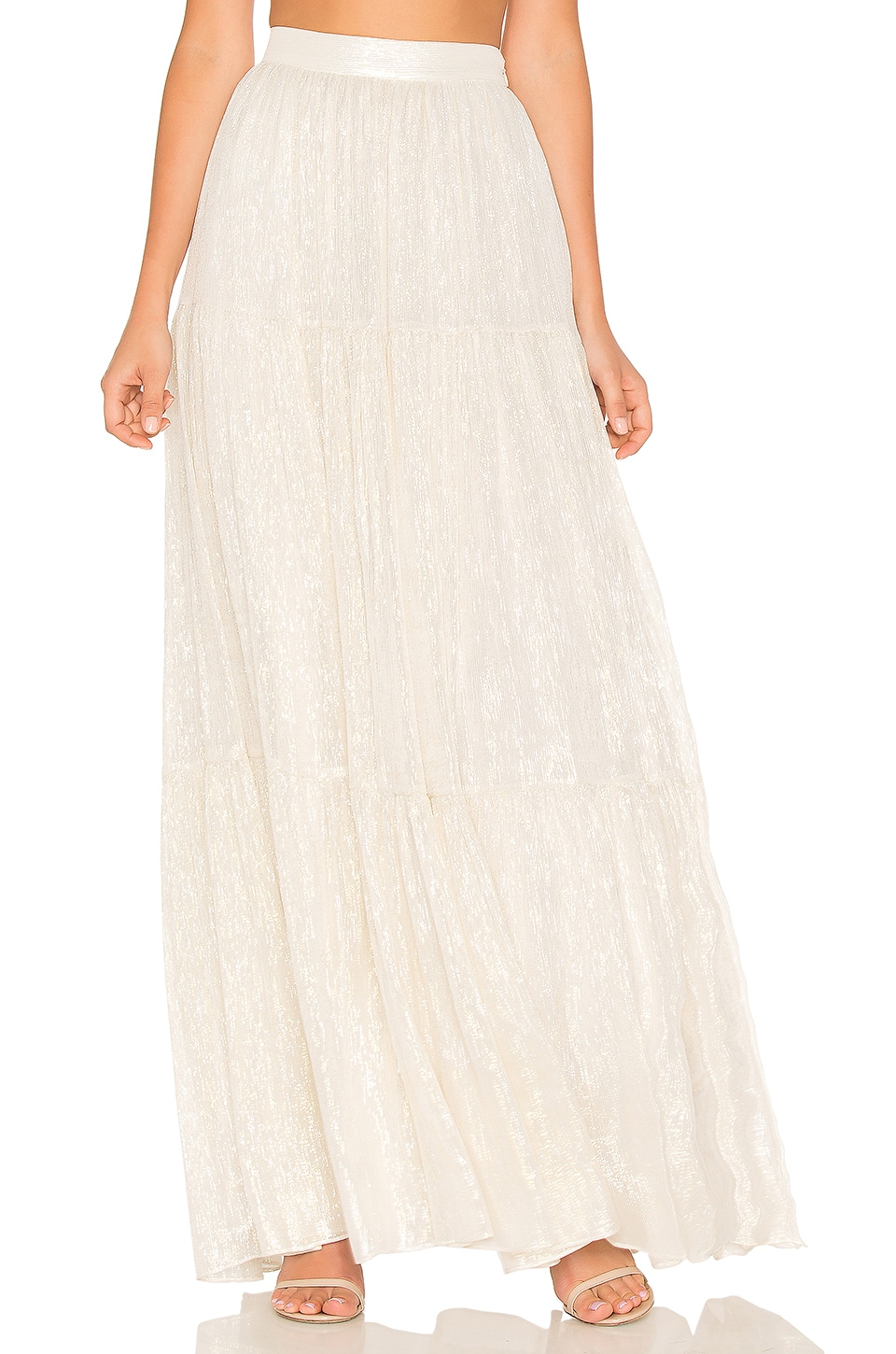 Erin Fetherston La Gitane Maxi Skirt in Moonlight Shimmer