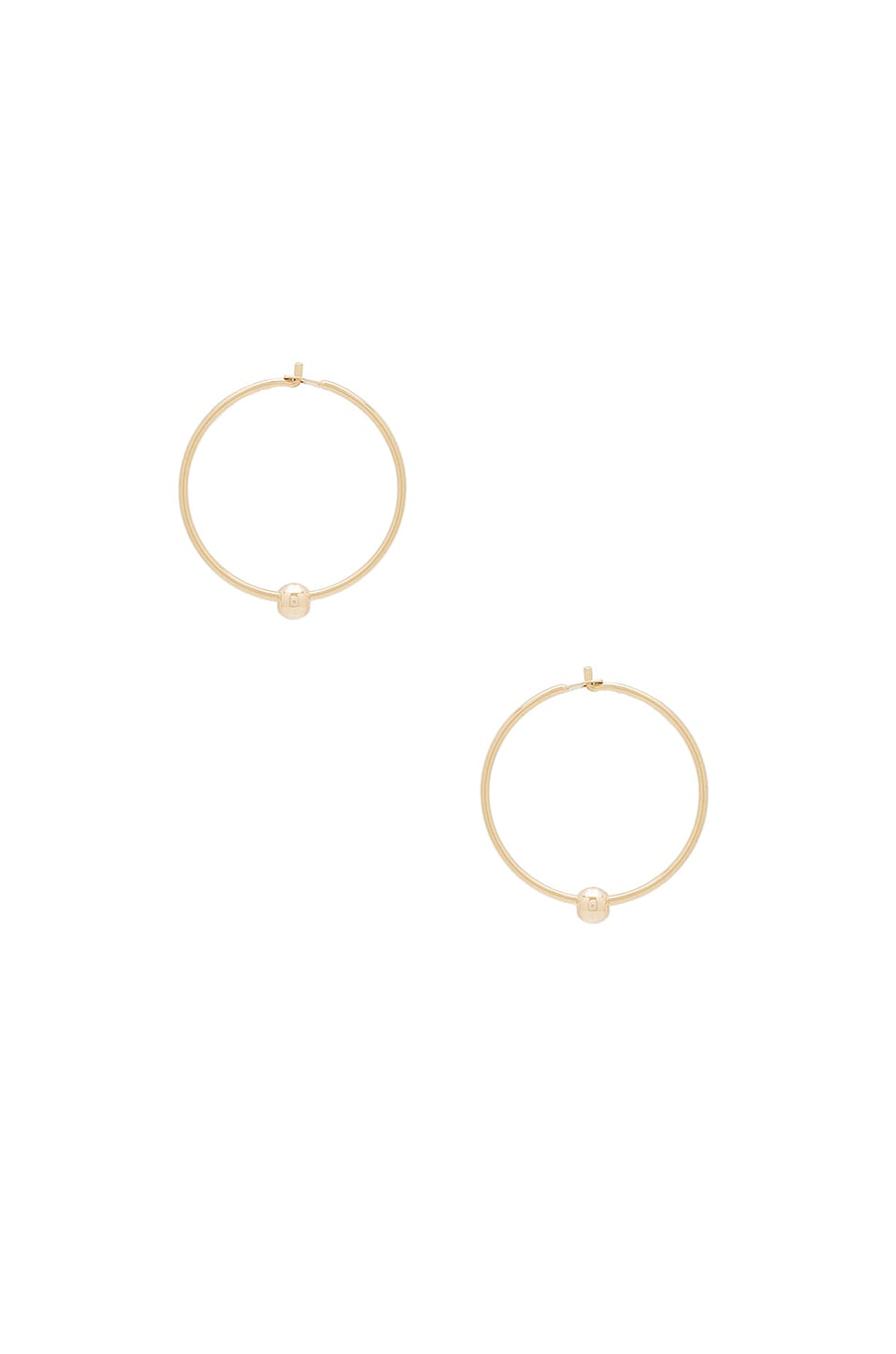 ERTH Ball Sleeper Earrings in Gold