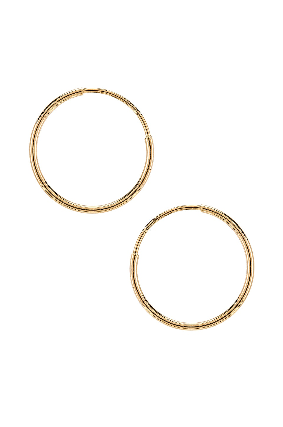ERTH Classic Hoops in Gold