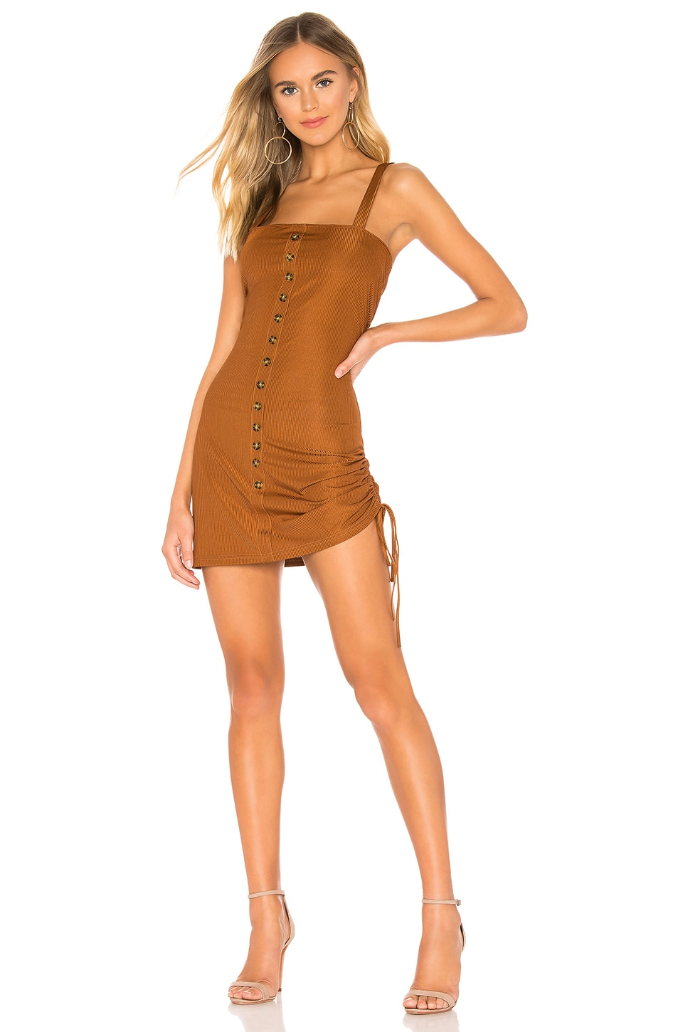 The East Order Kaisey Mini Dress in Cocoa