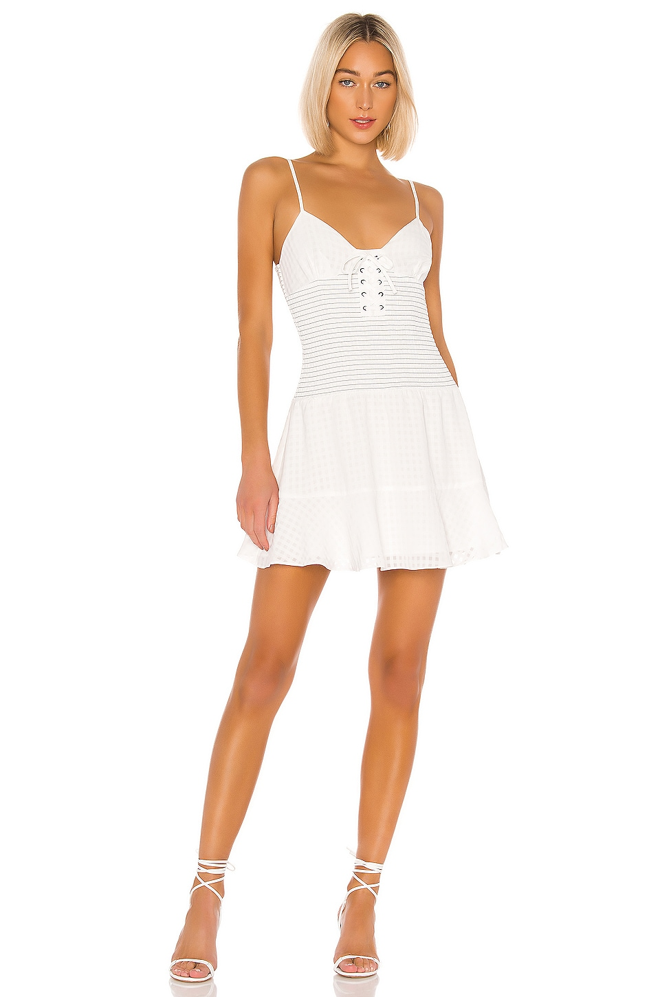 The East Order Chance Mini Dress in White