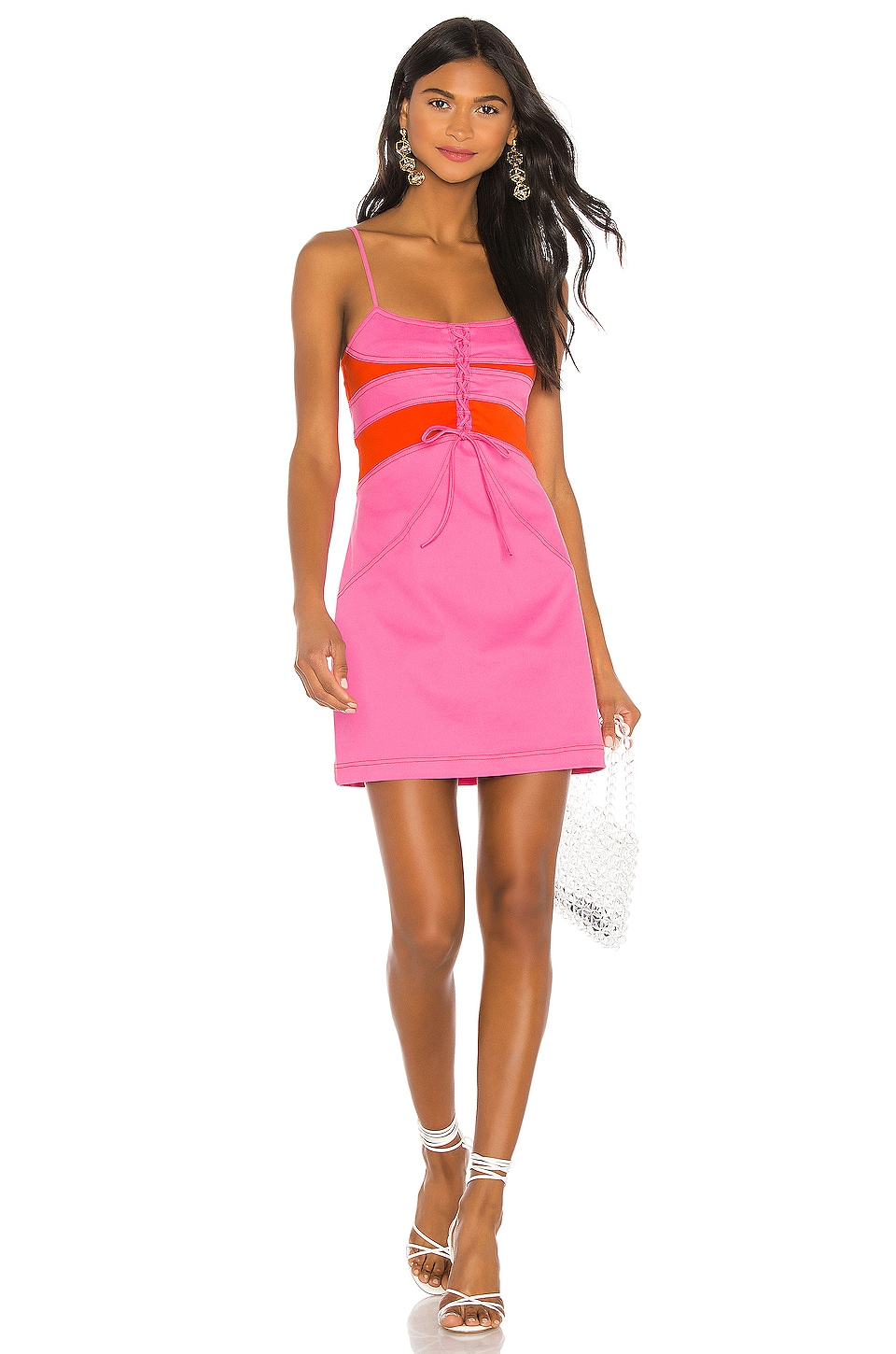 The East Order Ottie Mini Dress in Pink