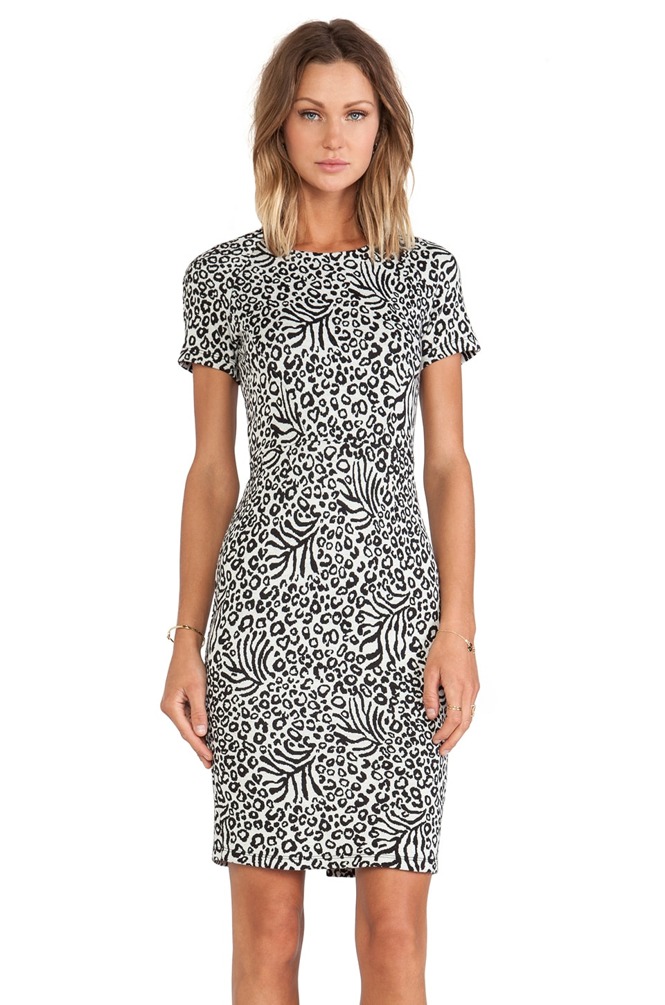 Essentiel Antwerp Happy Bday Zig Zag Milano Dress in Black & White