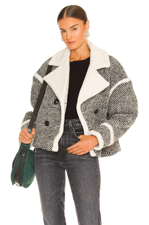 Essentiel Antwerp Anagram Faux Fur Jacket in Combo 1 Black