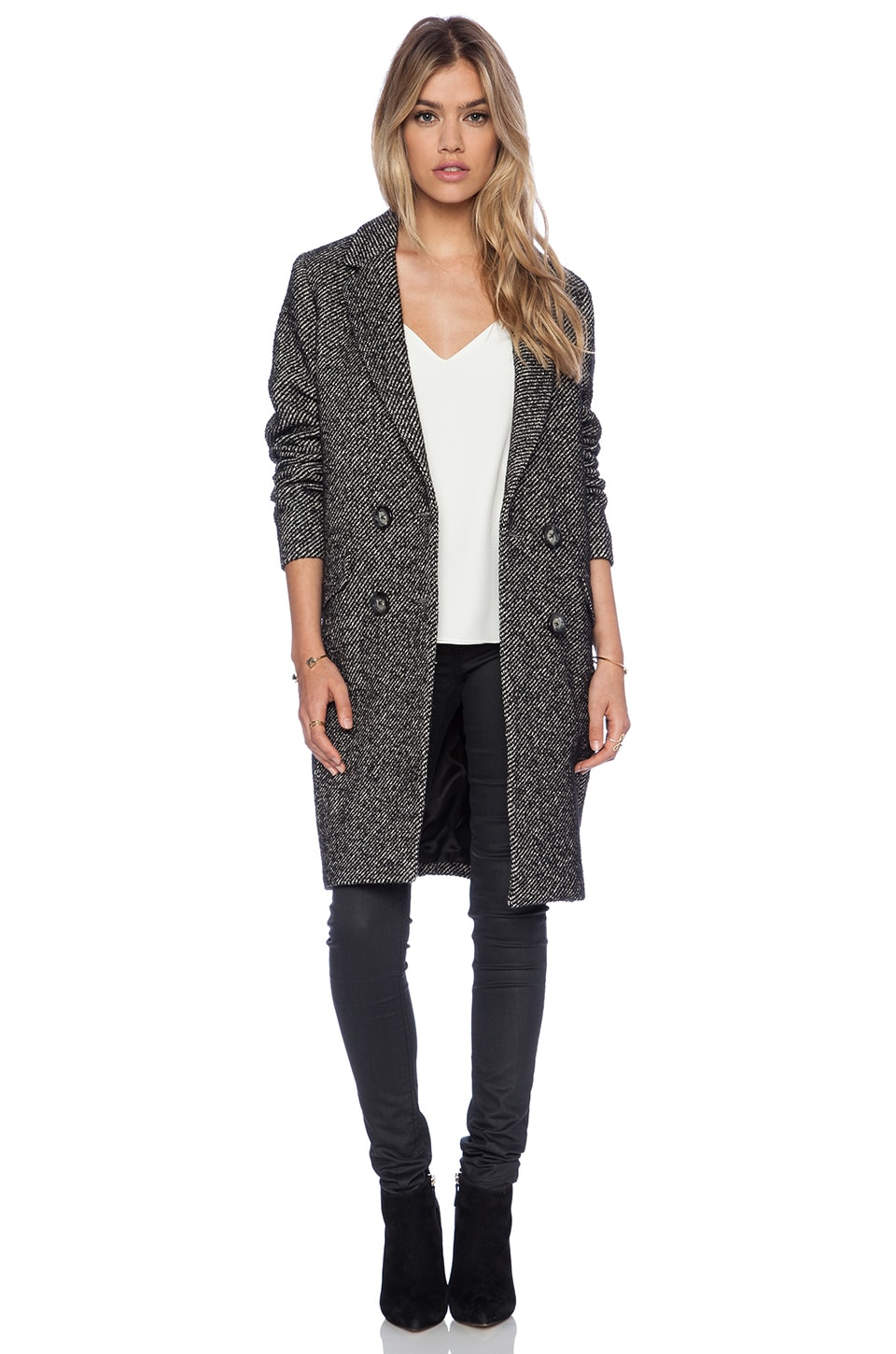 Essentiel Antwerp Hector Ivy League Coat in Grey