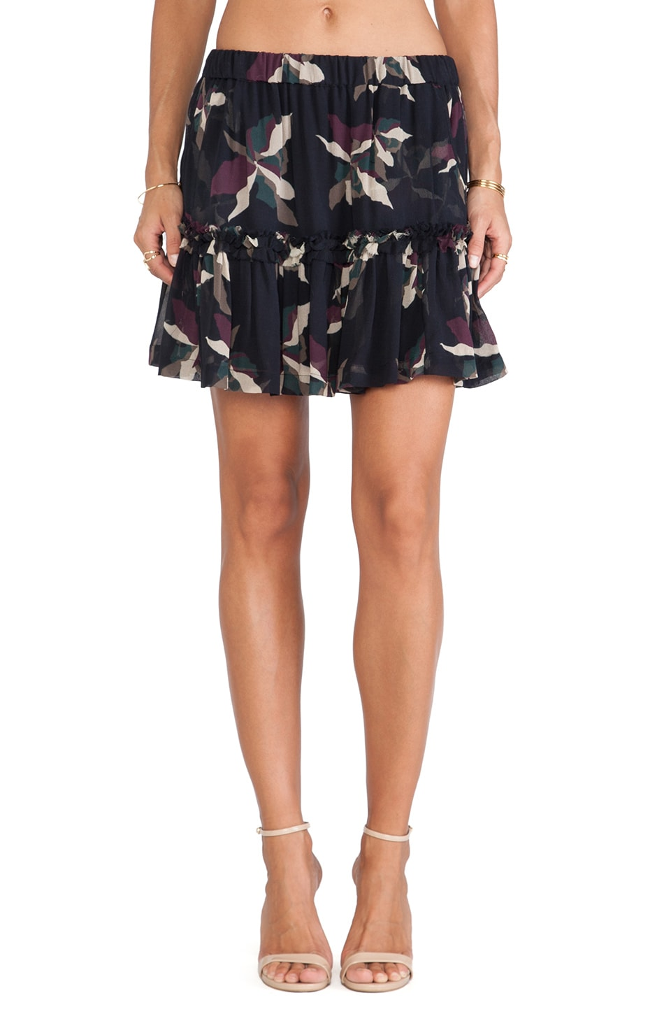 Essentiel Antwerp Antwerp Hofla Abstract Flower Skirt in Multi