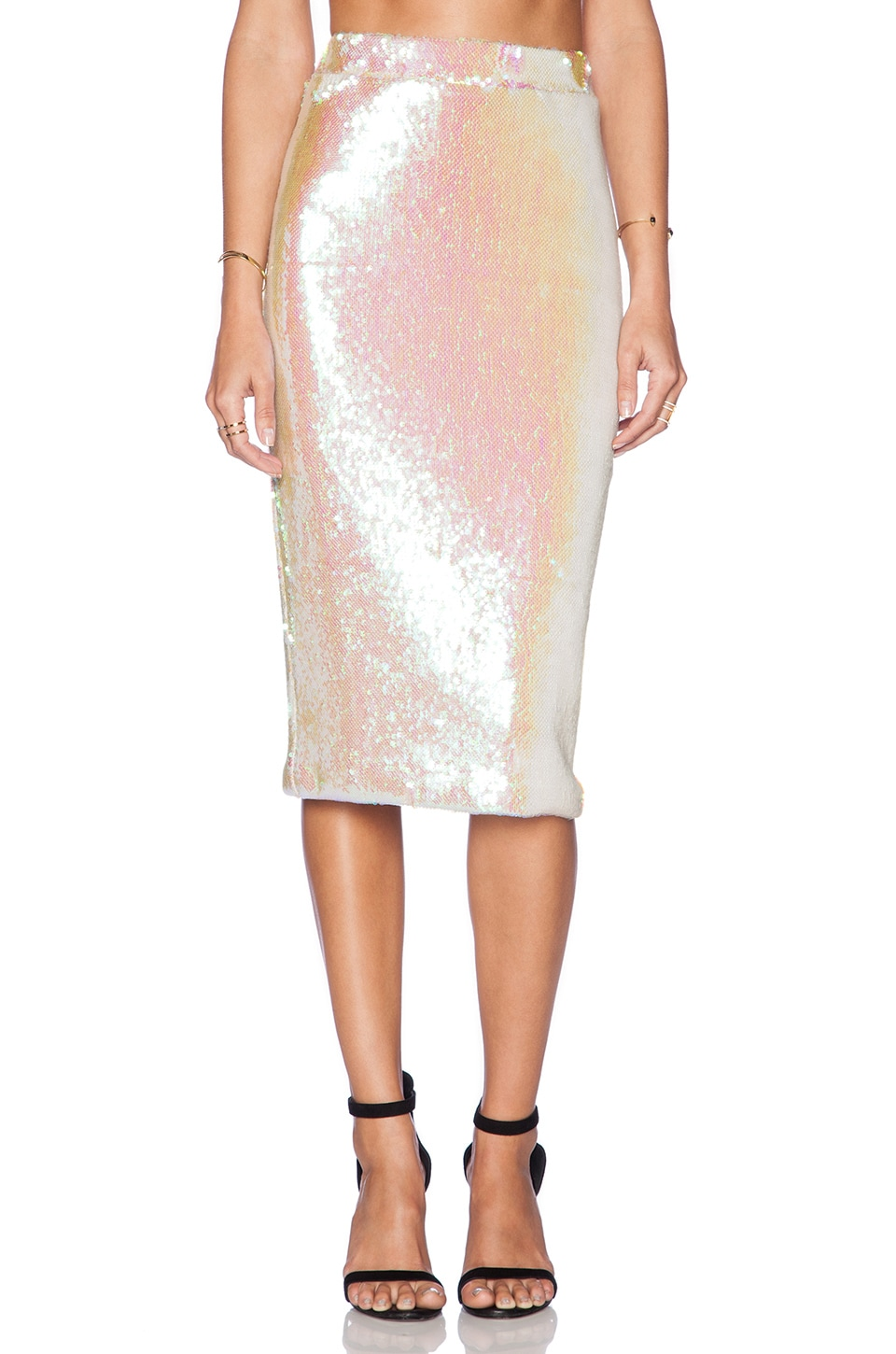 Essentiel Antwerp Atlantis Rising Skirt in Pink Sequin