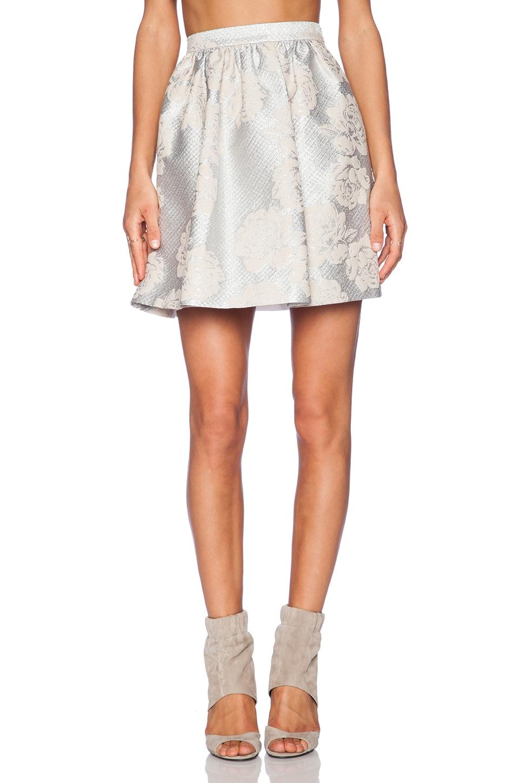 Essentiel Antwerp Paradise City Mini Skirt in Ivory & Silver