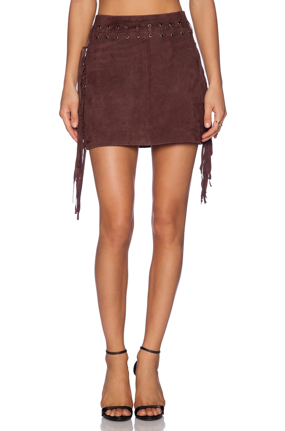 Fringes Suede Mini Skirt