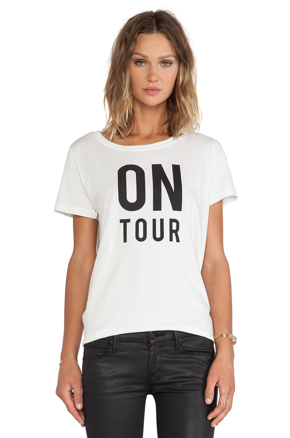Essentiel Antwerp Houpiepre On Tour Groupie T-Shirt in White
