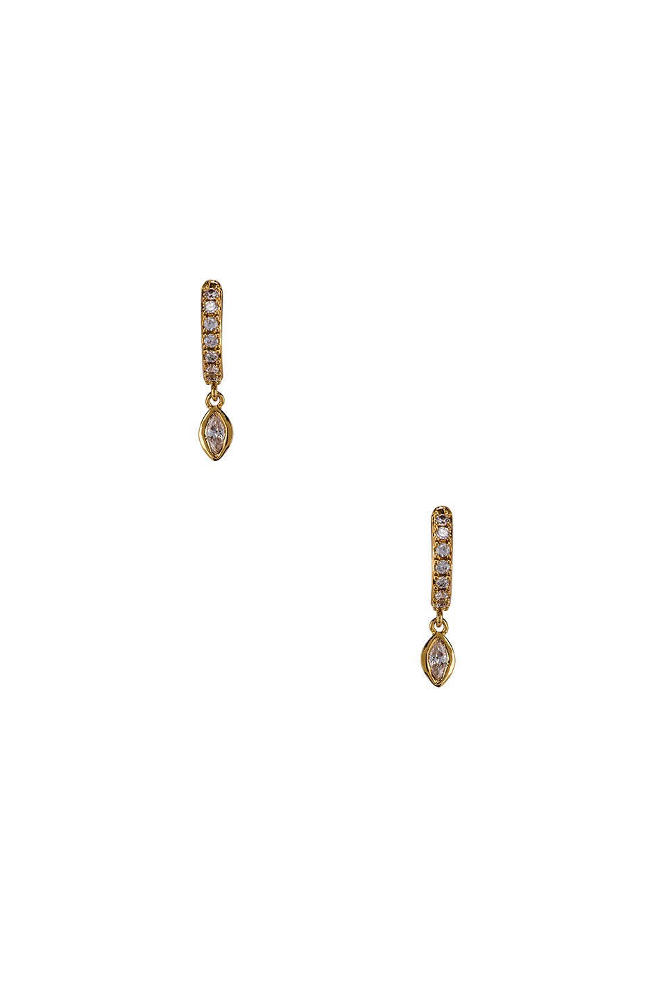 CZ Dangle Eye Mini Hoop Earrings