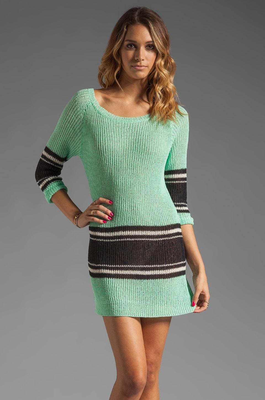Eternal Sunshine Creations Miami Raglan Mini Dress in Aqua Mix