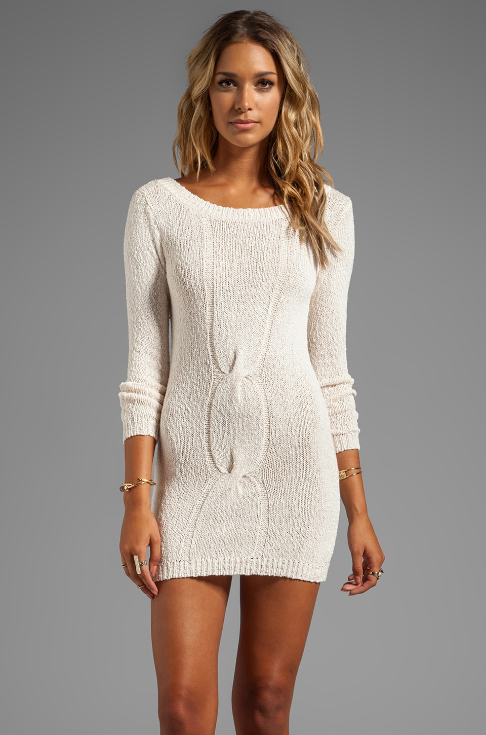 Eternal Sunshine Creations Margo Mini Dress in Ivory