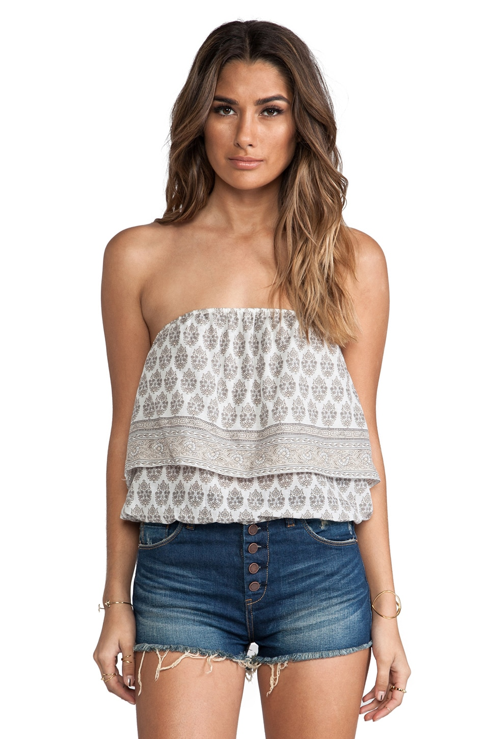 Eternal Sunshine Creations Boehem Tube Top in Dry Sand