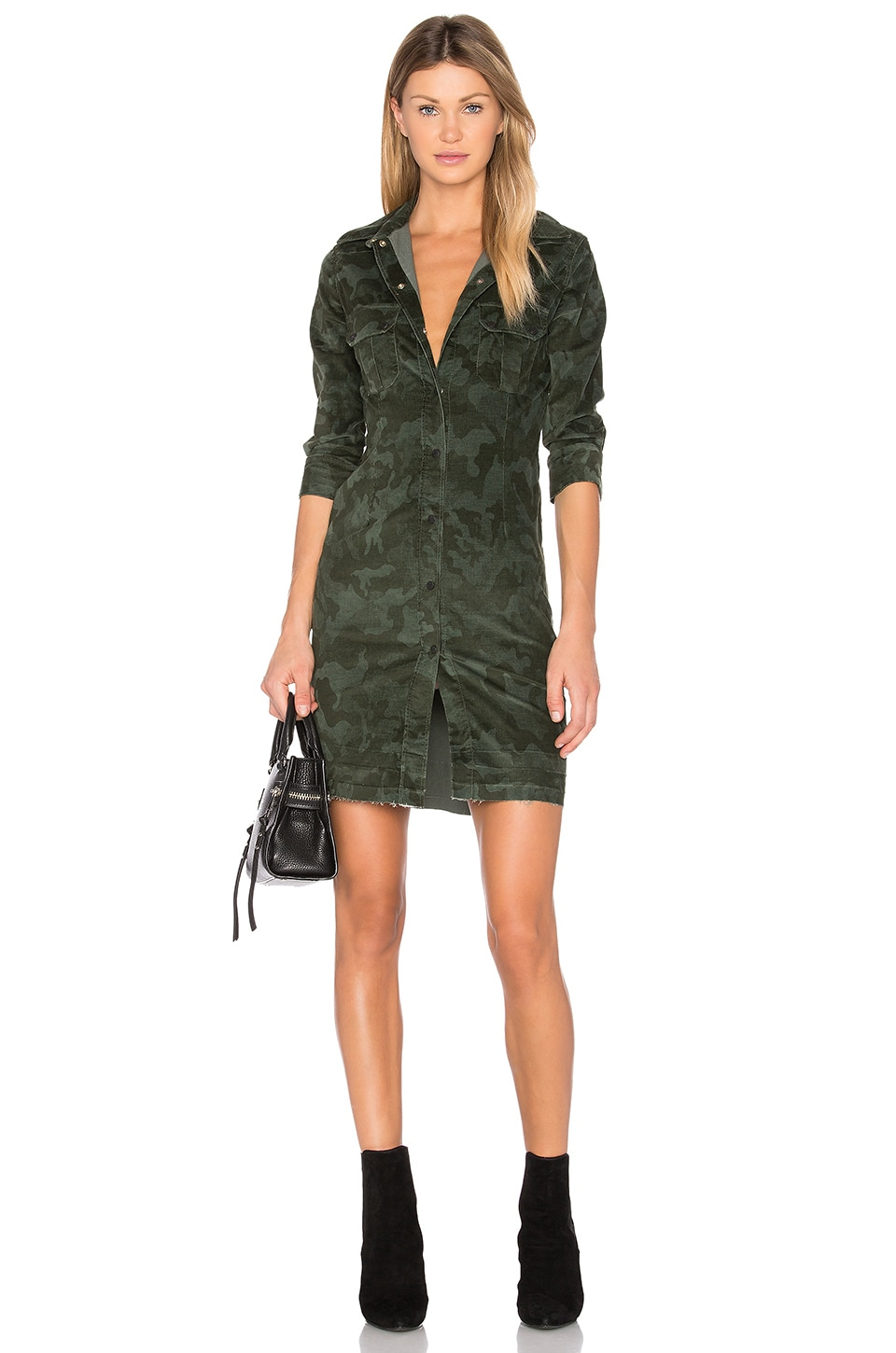 Button Up Mini Dress by Etienne Marcel
