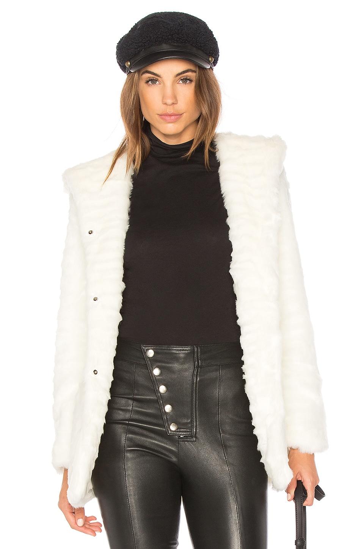 Indigo Faux Fur Coat by Etienne Marcel