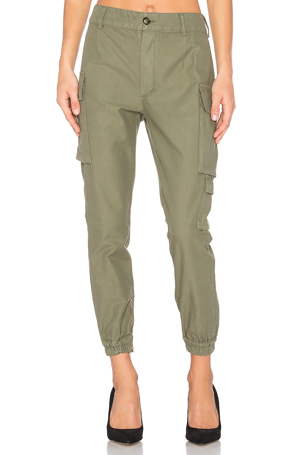 Etienne Marcel Military Cargo Pant in Khaki