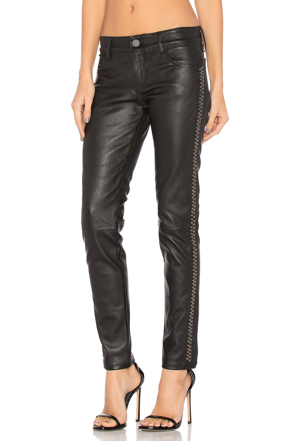 Leather Studded Skinny by Etienne Marcel