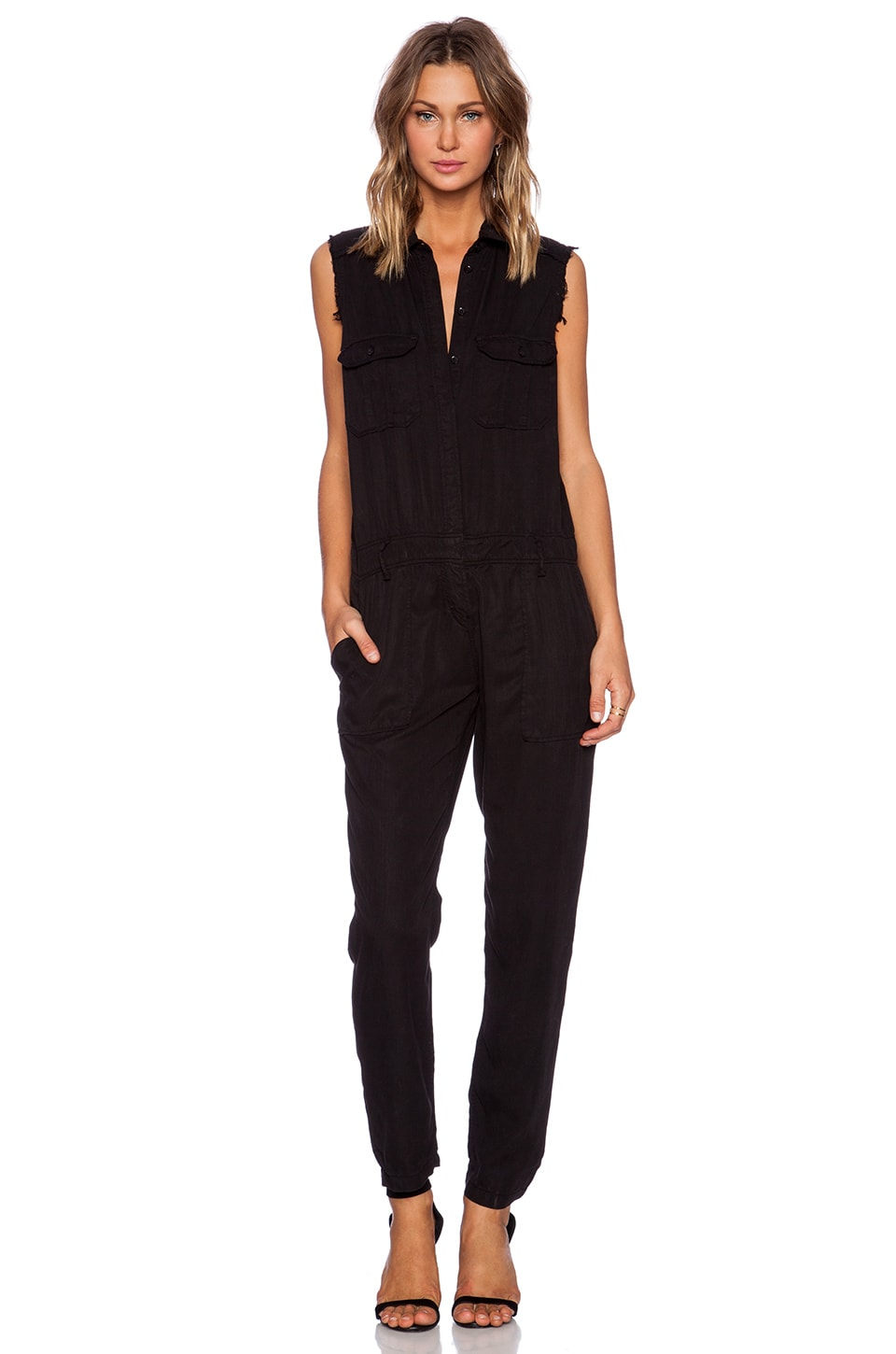 Etienne Marcel Sleeveless Jumpsuit in Black