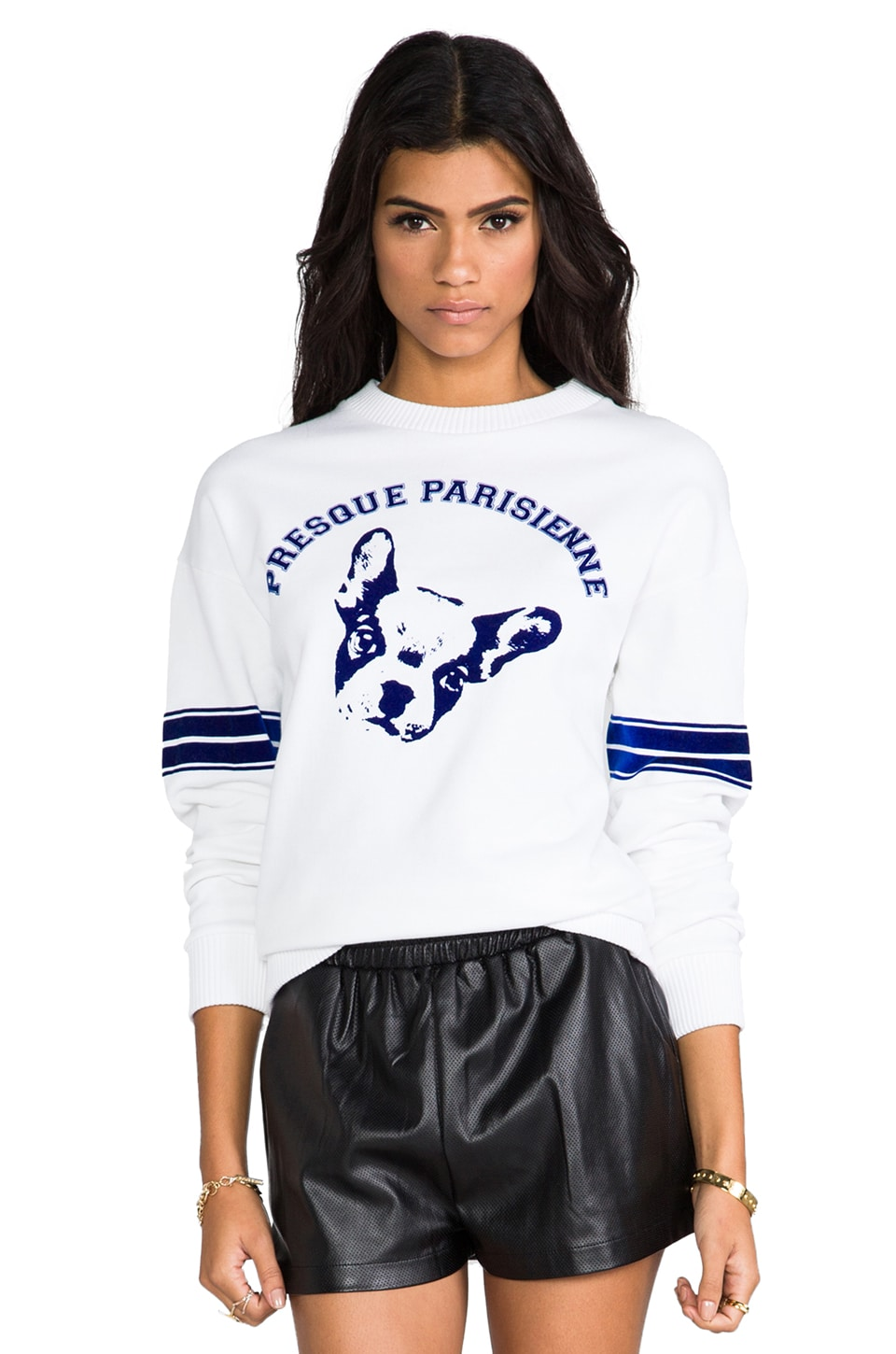 etre cecile Presque Sweatshirt in White/Blue