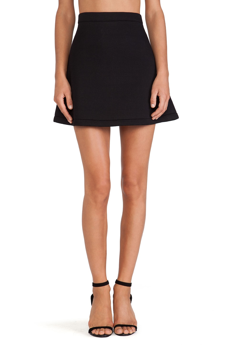 a line mini skirt black redskirtz