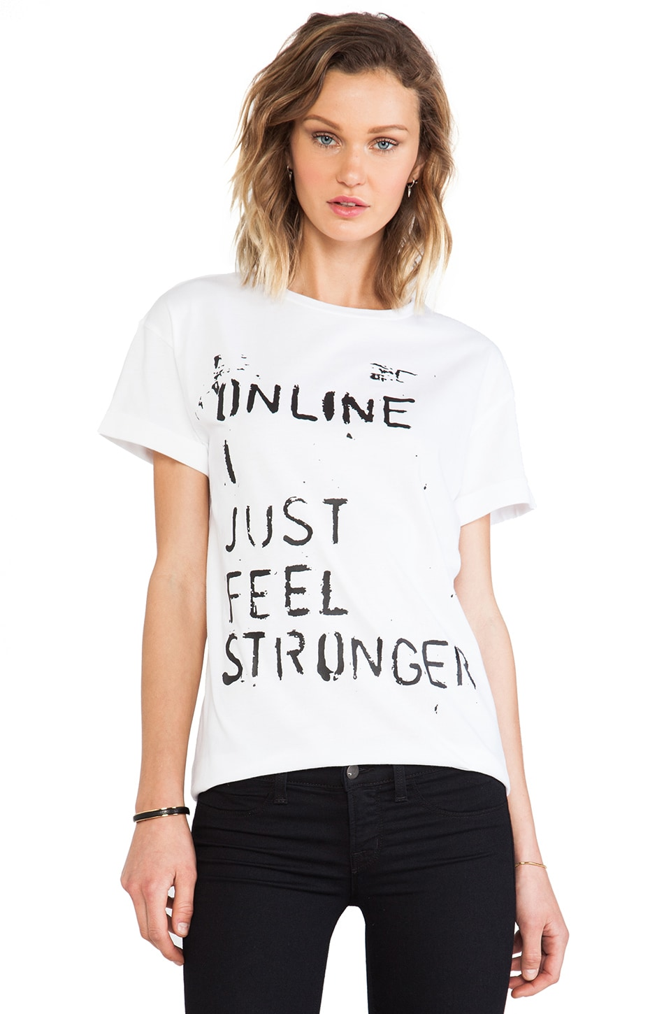 etre cecile x Richie Culver Online I Just Oversize T-Shirt in White & Black