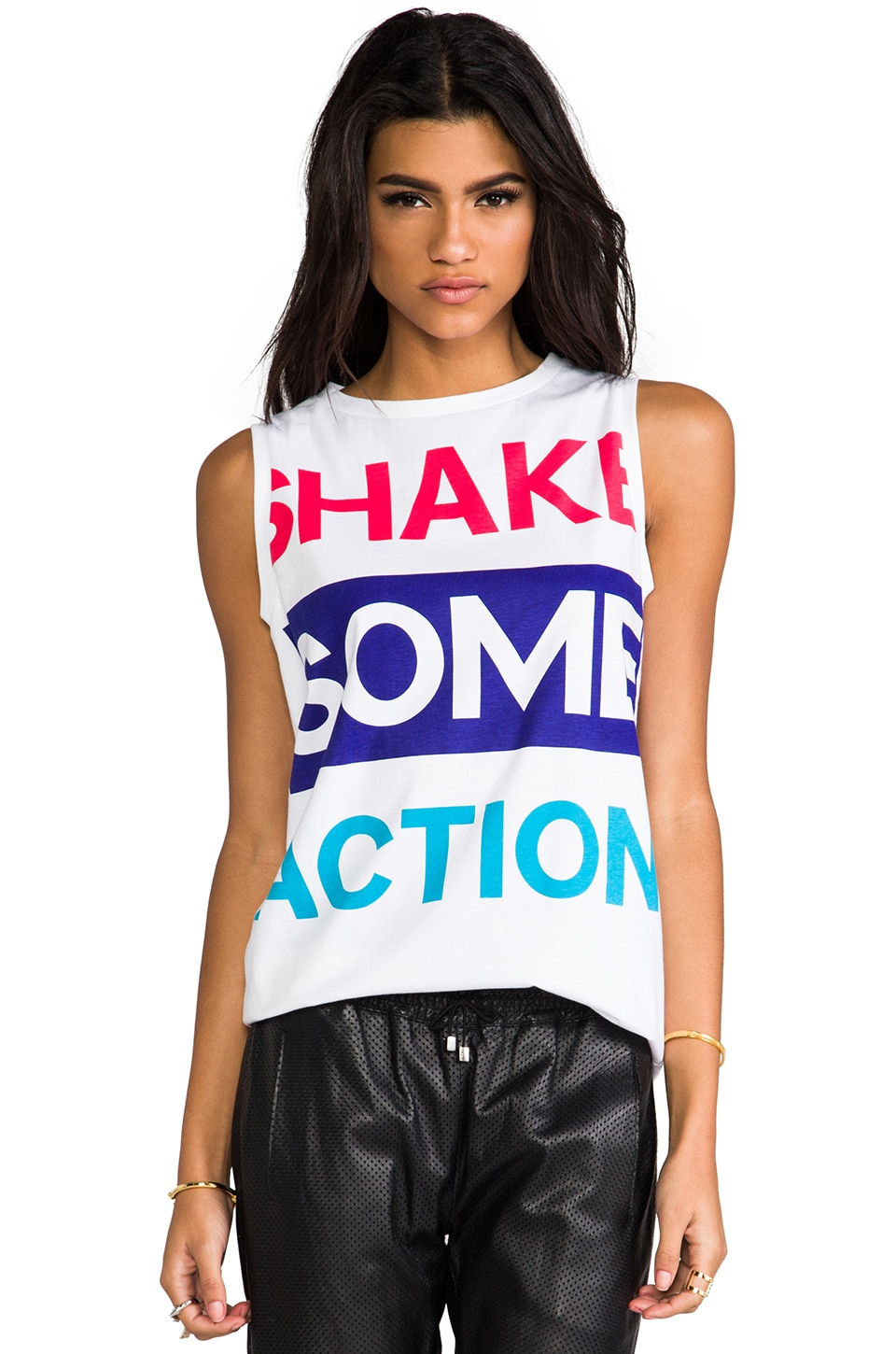 etre cecile Shake Some Action Tank in White & Red