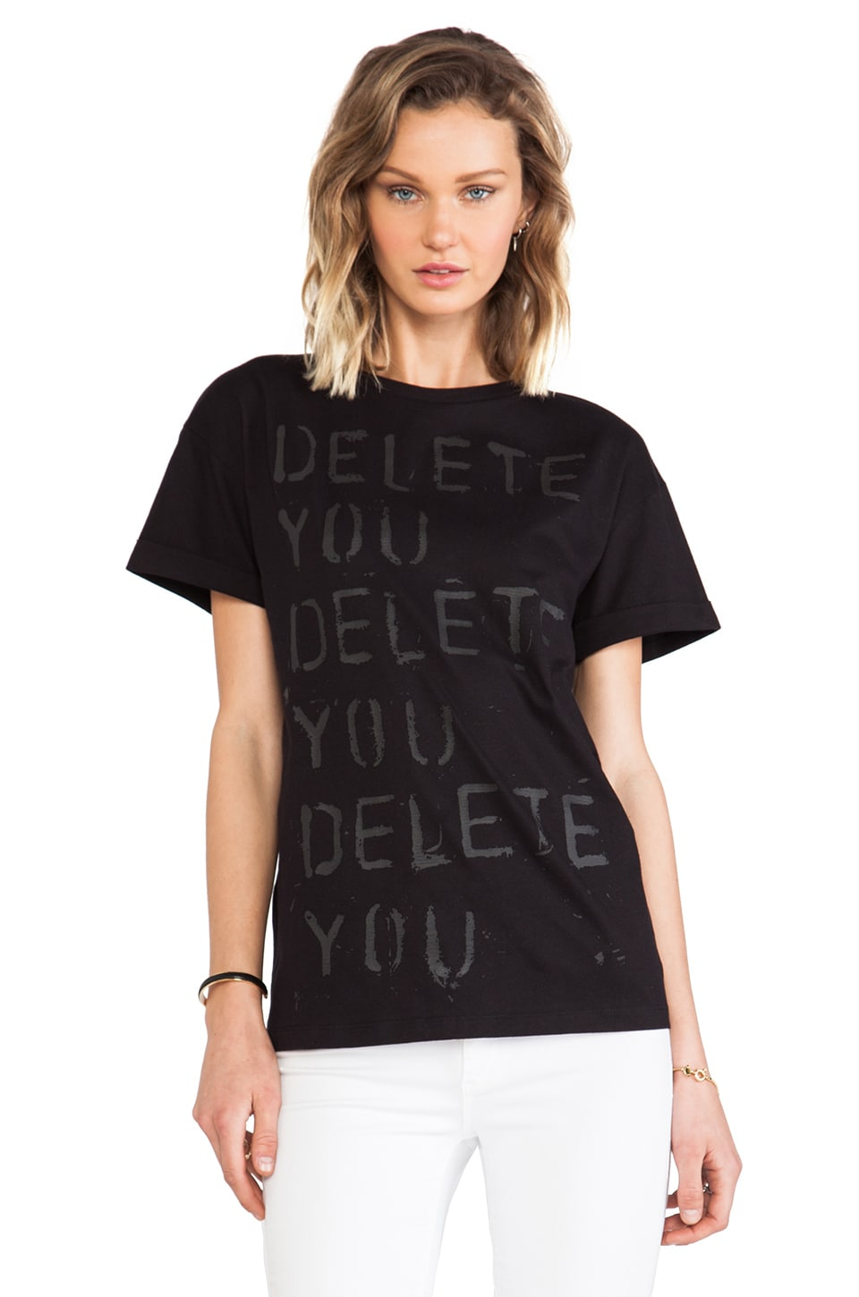 etre cecile x Richie Culver Delete You Oversize T-Shirt in Black
