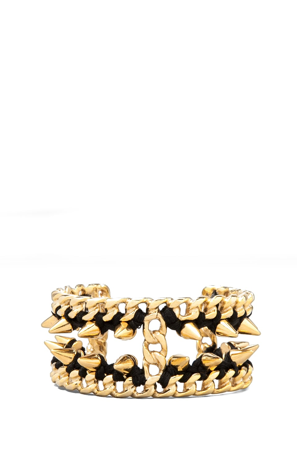 Ettika Gold Chain Cuff in Black/Gold
