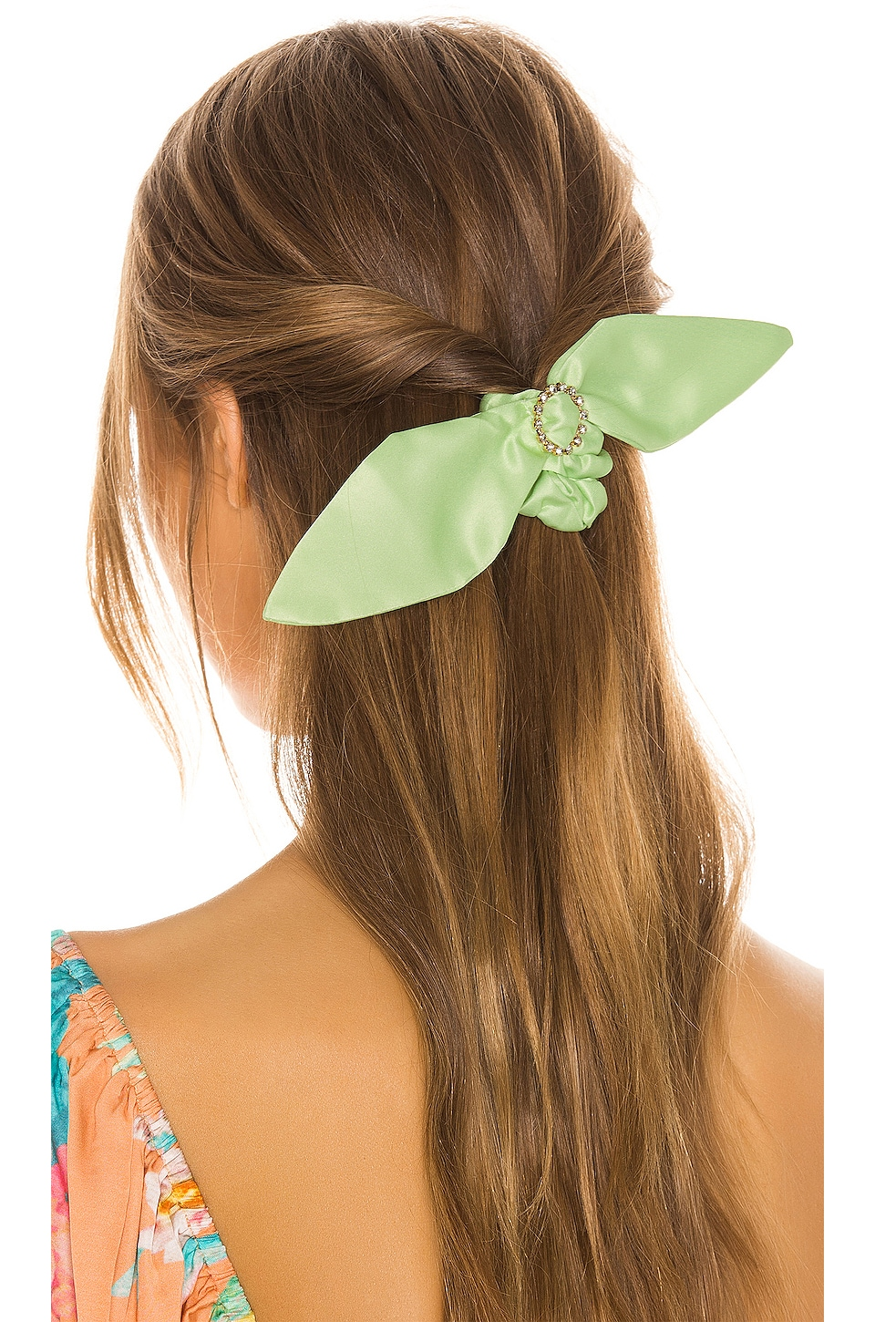 Ettika CZ Neon Scrunchie in Lime