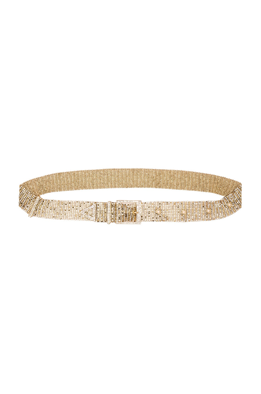 Ettika Metallic Mesh Belt in Gold & Silver