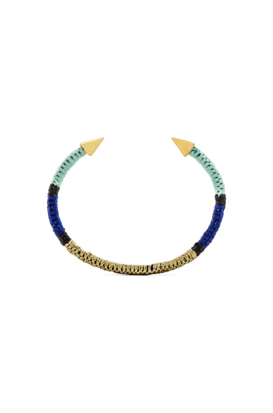 Ettika Spike Cuff in Gold & Blue