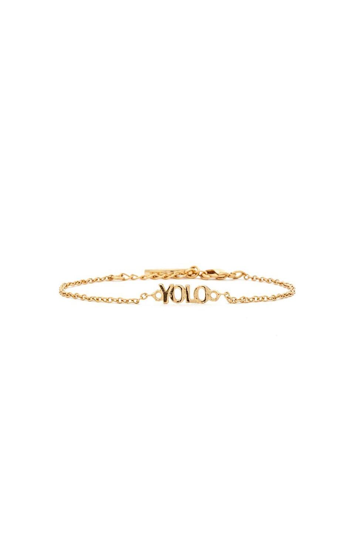 Ettika Dainty YOLO Bracelet in Gold