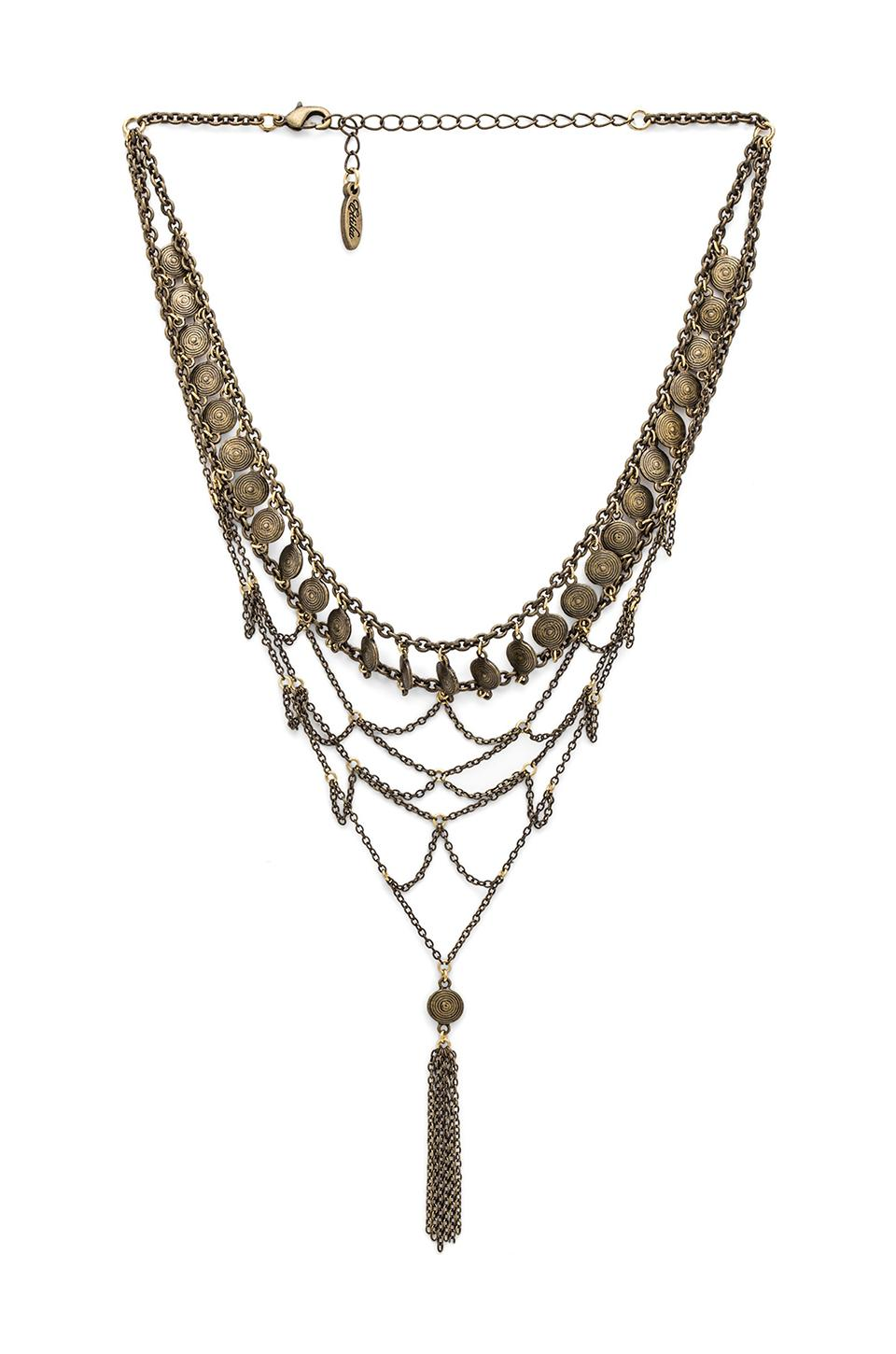 Ettika Choker Bib Necklace in Brass