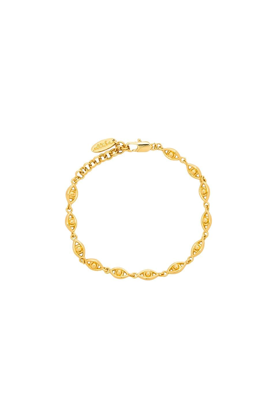 Ettika Evil Eye Charm Bracelet in Gold