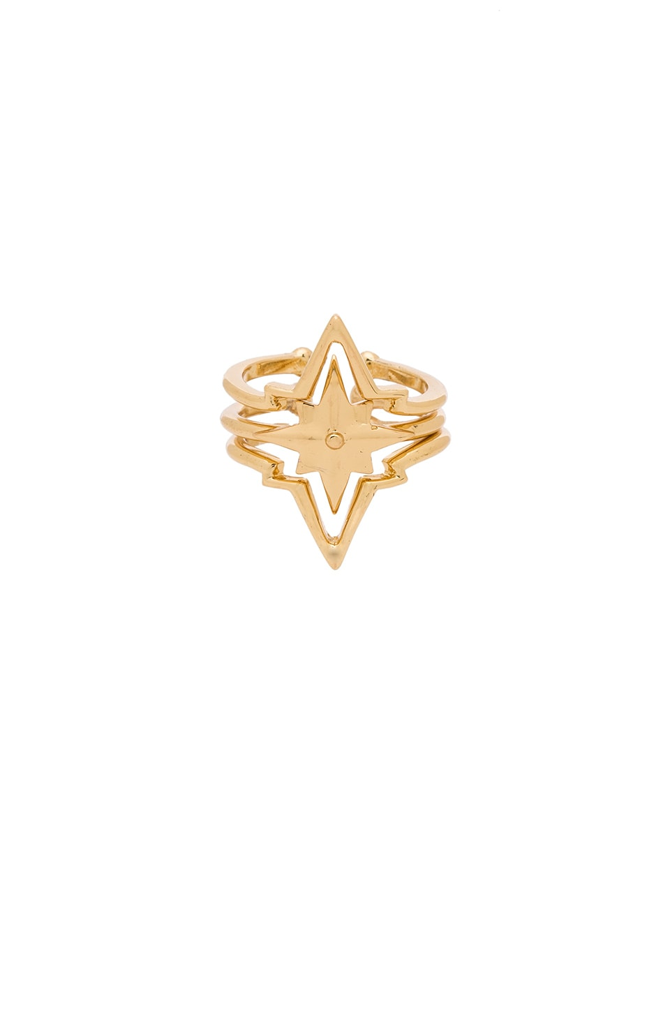 Ettika Set of 3 Star Ring Set in Gold